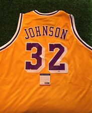 MAGIC JOHNSON LOS ANGELES LAKERS Yellow SIGNED Jersey GORGEOUS ! PSA!!