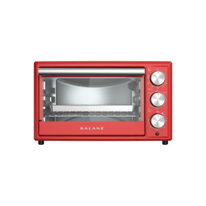 0.9 Cu.Ft Galanz Retro Hot Rod Red Toaster Oven