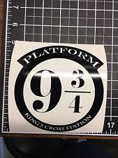 platform 9 3/4 Harry Potter Train vinyl sticker white or black