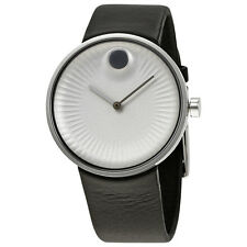 Movado Edge Silver-Tone Aluminum Dial Mens Watch 3680001
