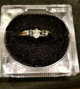 14k & 10k diamond & sapphire ring set LOT E