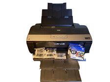 Epson Stylus Photo R1900 Digital Photo Inkjet Printer + 8 Ink Catridges