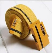 Korean men's and women's casual canvas belts smooth buckle braided belt