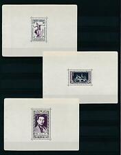 [18402] Cambodia Cambodge 1951 First National Issue 3 Sheets from booklet MNH VF