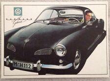 VW Karman Ghia Post Card 1st On eBay Car Poster. Own It!