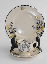 Vintage Royal Doulton CARNIVAL D5565 Demitasse Cup, Saucer & Side Plate (Trio)