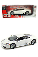 Brand New Maisto 1:18 Scale Murcielago LP640 Diecast Car Special Edition White