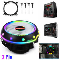 RGB LED CPU Cooler Fan Heatsink For Intel LGA 1156/1155/1151/1150 AMD AM4 / AM3+