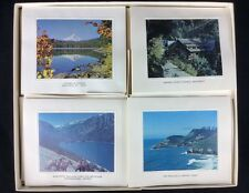 Vtg Photo Cards Oregon Coast Envelopes Box Mt Hood Ocean Mountain Caves Tree P18