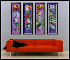 JIANG TieFENG Original Signed 4 SERIGRAPH Canvas ART Painting CHINESE Tie Feng