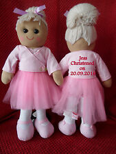 PERSONALISED CHRISTENING 1st HOLY COMMUNION  BALLERINA RAG DOLL GIFT BEAR