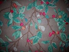 4 7/8Y new LEE JOFA fabric BEACH PLUM printed cotton linen red green brown