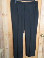 "Ecuidio Fucci Men's formal trousers black 36"" x 30"" man made Spanish"