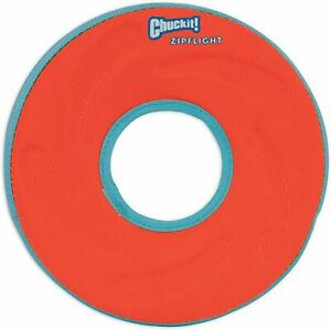 Chuckit Zipflight Ring with Rubber Rim and Liner -21cm- Medium - Assorted Colour