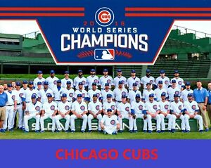 2016 CHICAGO CUBS 8X10 TEAM PHOTO BASEBALL MLB PICTURE WORLD SERIES CHAMPS W/S