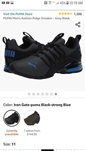 11 Mens Puma Axelion Athletic Mesh Lace Up Comfort Walking Running Sneakers