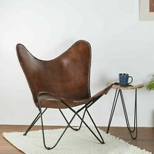 Handmade Leather Butterfly Chair Padding Cover Relaxing (Only Cover )