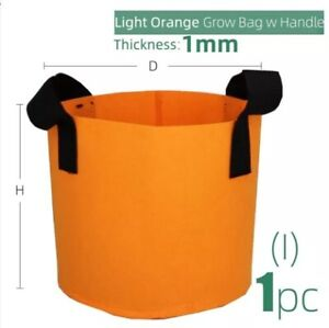 Grow Bag Durable 15 Colors 10 Sizes w/ Handles Indoor Outdoor Fabric Container