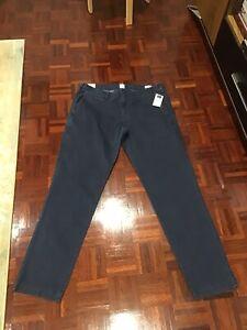 "New Mens GAP Blue Chino Cotton Pants Size 36 L 32"" Slim Fit..BNWTAGS .."