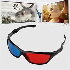 Black Frame Red Blue 3D Glasses For Dimensional Anaglyph Movie Game DVD SYKS