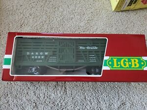 LGB 4068 D&RGW Green Stock Car G Scale