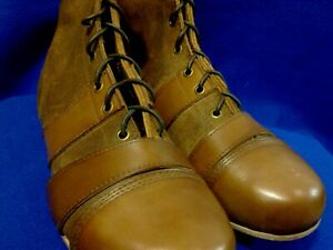 Geoffrey   Vintage Tan Leather Football Rugby Shoes   Retro Star