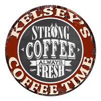 CWCT-0555 KELSEY'S COFFEE TIME Sign Birthday Housewarming Christmas Gift