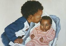 AFRICAN AMERICAN ART & PRINTS-Big Brother (16 x 20 New Unframed)