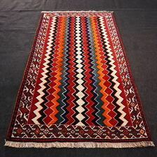 Designer Orient Teppich 195 x 110 cm Gabbeh Streifen Perserteppich Carpet Rug