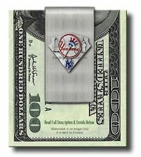 NEW YORK YANKEES STAINLESS STEEL MONEY CLIP  MLB BASEBALL SPORTS - FREE SHIP  #A
