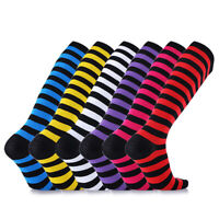 1 Pair Compression Socks Stripes Flight Travel Sports Football Running Socks C0