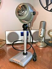 Handsome Vintage 1950's Dynamic Microphone & Stand - working great! Soviet era