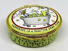 New listing Halcyon Days English Enamel Box - Scrooge Mcduck - Positive Cash Flow - Disney