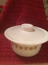Pyrex Corning  # 75 Butter Bowl Butterfly Gold Tub Dish & Lid Margarine