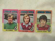 Aston Villa Football Legends Of 1975 x3-Topps Vintage Gum Cards