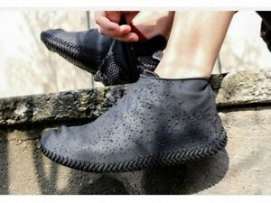 Wasserfeste Schuhüberzieher aus Silikon Überschuhe Regenschutz Schuhüberzieher