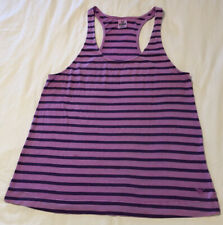 PINK By Victoria's Secret Tank Top Racerback Pink/Purple Striped Medium