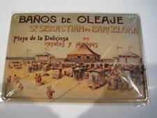 REF 123 Cartel Placa Metal 20X30CM 150gr - Baños de Oleaje Barcelona playa