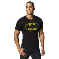 Mens Black Batman Logo Tee T-Shirt
