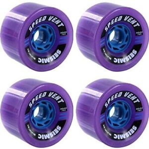 SEISMIC Longboard Wheels BlackOps 85mm SPEED VENT Wheels PURPLE 79A