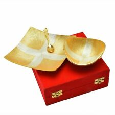 New Decorative Design Silver And Gold Plated Bowl Set Of 3 Pcs For Diwali Gift