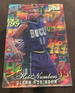 1995-96 Flair Hot Numbers Glen Robinson #12/15
