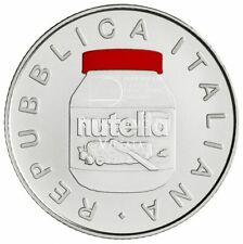 """5 Euro Argento Italia 2021 FDC """" NUTELLA """"  ROSSA"""