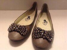 Women & Girls Princess Gray Ballet Sparkle Rhinestones Flat Shoes Size 37