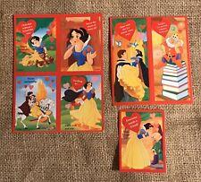 Vtg 1990s Disney Snow White Valentines Cards