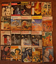 20x Science Fiction Pulp Magazines 1950s Book Lot
