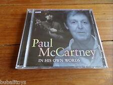 Paul McCartney - In His Own Words BBC Radio & TV Interviews 2 x CD NEW! Beatles