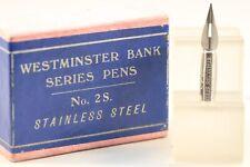 H 72 Stainless Steel Dip Pen Nib Woodwards 1st Class Bank Pen No Vintage A