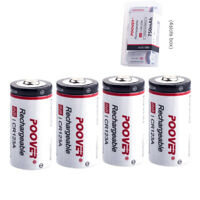 4* POOVER RCR123A 750mAh 3.7V Li-ion Rechargeable Arlo Battery CR17345 CR123 123