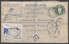 Uk Gb Palestine 1943 Field Post Office 293 Registered Letter To Jerusalem With